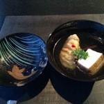 和彩膳所 楽味 - アブラメ、東破豆腐、輪島塗りのお椀で