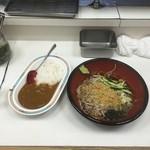 千曲そば - ミニカレー冷やしたぬきセット 560円 (2016.05)