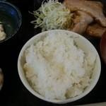 赤坂元気(仮) - 豚生姜焼き定食 2016.5