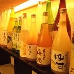 巨峰酒/りんご酒/白桃酒/あんず酒/グレープフルーツ/ライチ etc