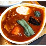スープカレー屋 鴻 - 「黒カレー・ビーフ200g 3辛」(2016.05)