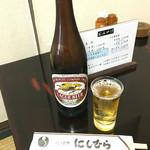 八ツ目や にしむら - 瓶ビール(600円)