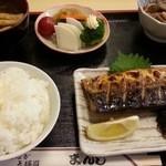 まんじ - さば塩定食 2016.5