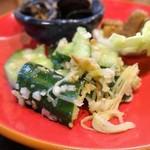 湘南小吃 - 3種のおつまみ盛り合わせ:胡瓜の漬物