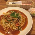 パスター浥 - 料理写真:カントリー720円とサラダ。