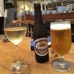 イタリアン アンド ワイン チャコール - 白ワイングラス・キリンラガー