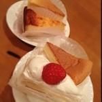 ボン・ボン洋菓子店 - チーズケーキ、イチゴのショートケーキ❣️
