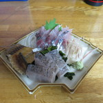 ゑじま - 真アジと太刀魚炙りお刺身