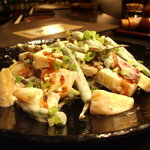 YAKITORI 鳥じん - 柿と鳴門金時芋のサラダ