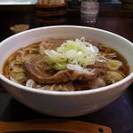 堀留屋 - 肉そば(平打ち麺、大)