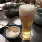 あじびる 花心 - 生ビール