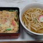 屋島 - 玉子丼、定食に付いているミニ?うどん