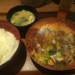 祭太鼓 - 特ロースかつ丼、味噌汁(2015,1)
