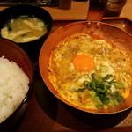 祭太鼓 - 親子丼、味噌汁(2014,2)