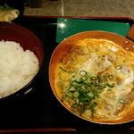 祭太鼓 - 特ロースかつ丼、2個玉子、味噌汁(2011,12)