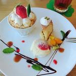 コニリア - 料理写真:2016/5 ケーキブレート(イチゴショートケーキ)