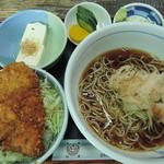 滝乃家 - 料理写真:ミニソースカツ丼セット(おろしそば冷)