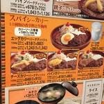 びっくりドンキー 岸田堂店  - カレー関係メニュー