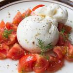渋谷チーズスタンド - たっぷりトマトとブッラータ オレガノ添え(1,680円)