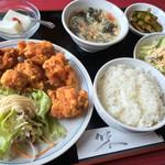 中華餃子坊 - 鳥の唐揚げセット 750円