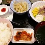 焼肉レストラン 大昌園 - 定食(小鉢が1個減った?