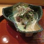酒斎 伊とう - 造里:鯵 緑酢と薬味1
