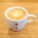 ミヤジマコーヒー - カフェラテ HOT (450円) '16 4月上旬