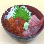 寿司処 けいらん - 160520 いくらと中ろと丼(ハーフ)