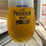 しもふらん - 生ビールは薫るプレミアムモルツ小が通常430円→セット価格350円