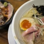 海坂屋 - 特製汐そば+庄内豚のローストポーク丼
