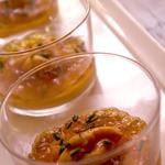 トラットリア ナカタ - 季節野菜のムース コンソメジュレとウニ