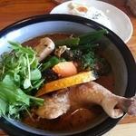 カリーキュー - チキン野菜(黒コクスープ)