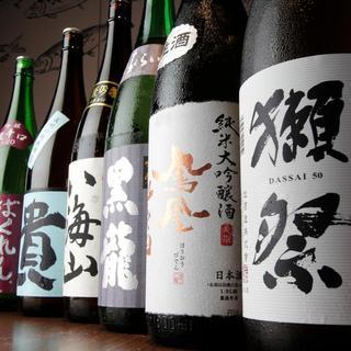 獺祭などの地酒が全30種類!
