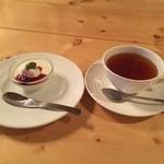 ジヴェルニー - プチパンナコッタと紅茶
