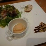 イゾラ フェリーチェ - 料理写真:トラットリアのピアットウニコランチ(1000円) 季節の前菜4種盛り合わせ