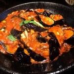 51311112 - ナスのピリ辛挽き肉炒め