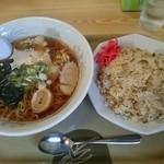 ゆさんこ - 料理写真:醤油ラーメンと炒飯