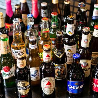 まさに海外ビール専門店!世界のビールが40種類ある!!