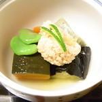 季ごころ廣 - 料理写真:煮物 鯛の子 空豆 南瓜 揚げ茄子 生麩 人参