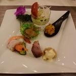 椰林 - 前菜5種の盛り合わせ