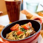 リコプラス - 牛バラ肉のコンフィ―グリル        フルティカトマトと野生種えのきのさっぱりソース