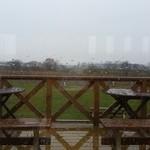 51318840 - 雨降りの窓からの景色です。