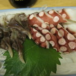 Taishuusakabatoritoku - 大衆酒場 鳥徳:刺身 タコ&とり貝