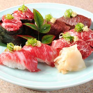 桜肉寿司いろいろ