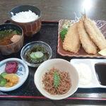 いわし亭 - いわしフライ定食(1,300円)