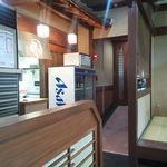 いわし亭 - 厨房入口付近