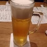 るこっく - キンキンに冷えたビール