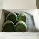 創風庵 - 抹茶大福4個入り、1512円です。
