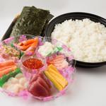 北海丼丸 - ちらし寿しセット!おうちで手巻きずしパーティーはいかがでしょう?20本分のセットです。