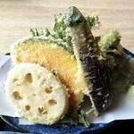 手打ち蕎麦 真心 - 野菜天
